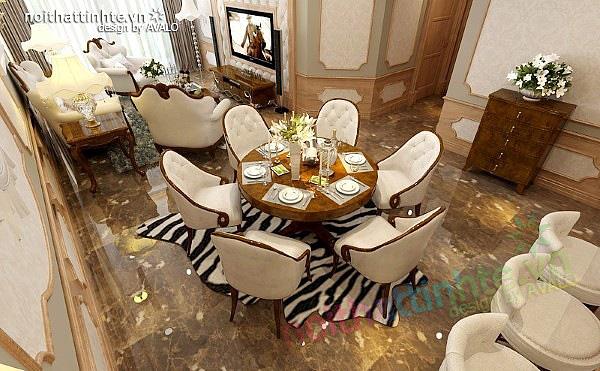 Thiết kế nội thất chung cư Royal city 135 m2 04