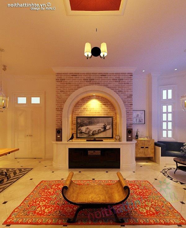 Thiết kế nội thất phòng ngủ Master phong cách Địa Trung Hải