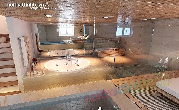 Thiết kế nội thất biệt thự phong cách đương đại 16