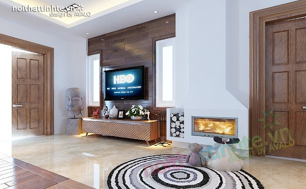 Thiết kế nội thất biệt thự phong cách đương đại 03