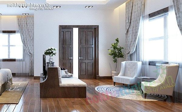 Thiết kế nội thất biệt thự phong cách đương đại 07