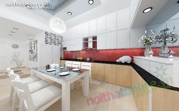 Thiết kế nội thất chung cư 60m2 Lĩnh Nam