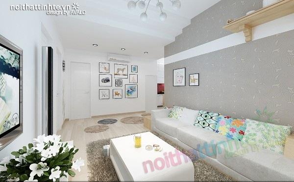 Thiết kế nội thất chung cư 60m2 06
