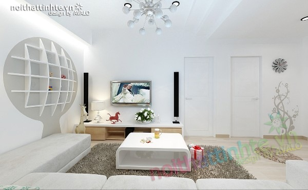 Thiết kế nội thất chung cư 60m2 07
