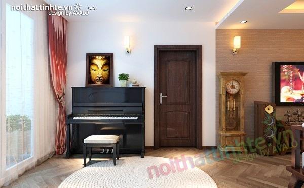 Thiết kế nội thất chung cư 100 m2 phong cách Á Đông 05