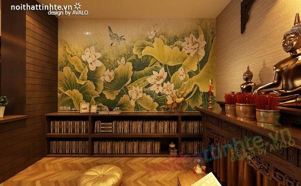 Thiết kế nội thất chung cư 100 m2 phong cách Á Đông 07