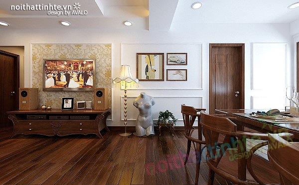 Thiết kế nội thất căn hộ chung cư cao cấp  Việt Hưng 03