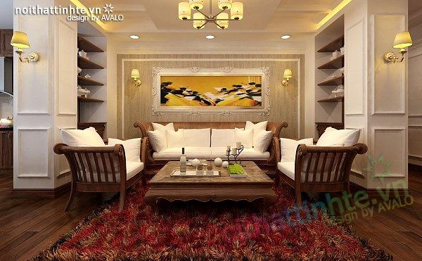 Thiết kế nội thất căn hộ chung cư cao cấp  Việt Hưng 07