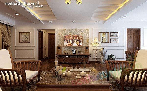 Thiết kế nội thất căn hộ chung cư cao cấp  Việt Hưng 09