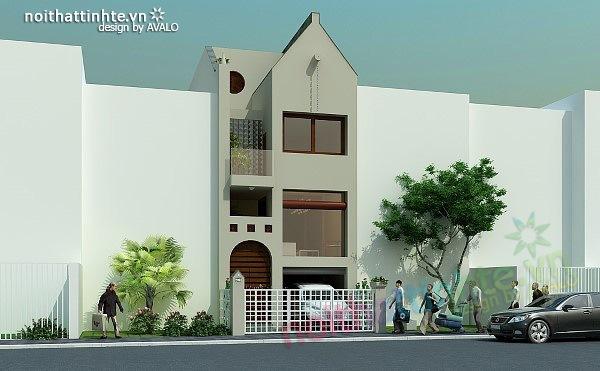 Mẫu thiết kế nhà phố đẹp 03