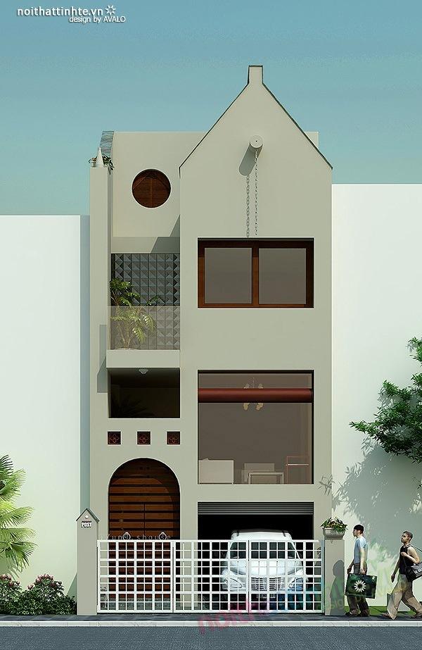 Mẫu thiết kế nhà phố đẹp 04