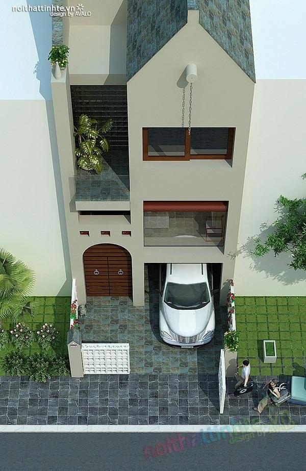 Mẫu thiết kế nhà phố đẹp 06