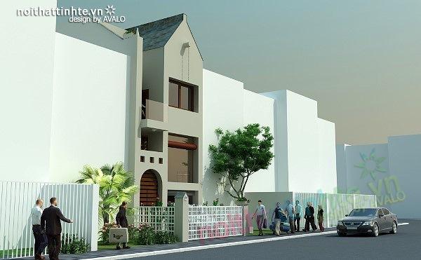 Mẫu thiết kế nhà phố đẹp 08