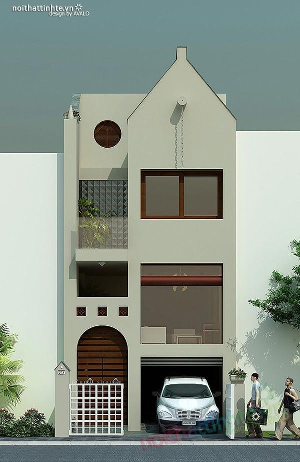 Mẫu thiết kế nhà phố đẹp 10