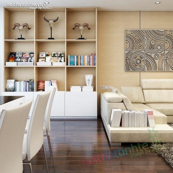 Thiết kế nội thất chung cư  liên thông hiện đại 10