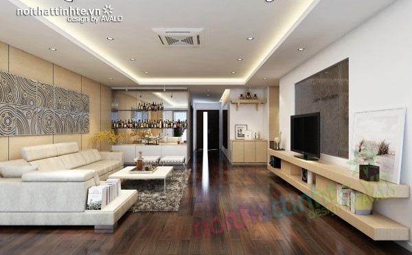 Thiết kế nội thất chung cư  liên thông hiện đại 11