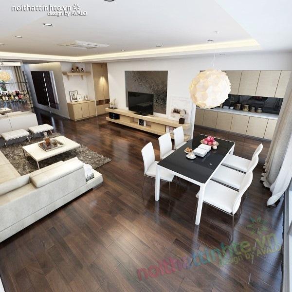 Thiết kế nội thất chung cư  liên thông hiện đại 12