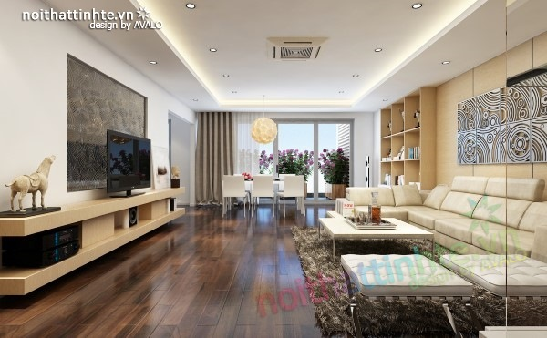 Thiết kế nội thất chung cư  liên thông hiện đại 02