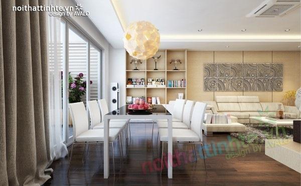 Thiết kế nội thất chung cư  liên thông hiện đại 03