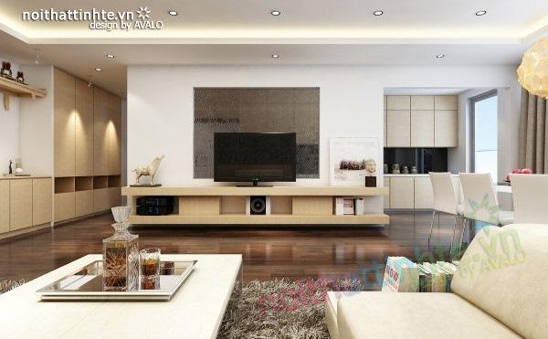 Thiết kế nội thất chung cư  liên thông hiện đại 05