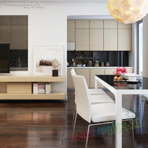 Thiết kế nội thất chung cư  liên thông hiện đại 07