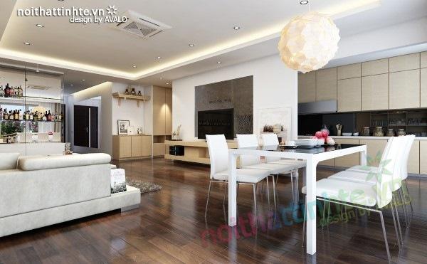 Thiết kế nội thất chung cư  liên thông hiện đại 08