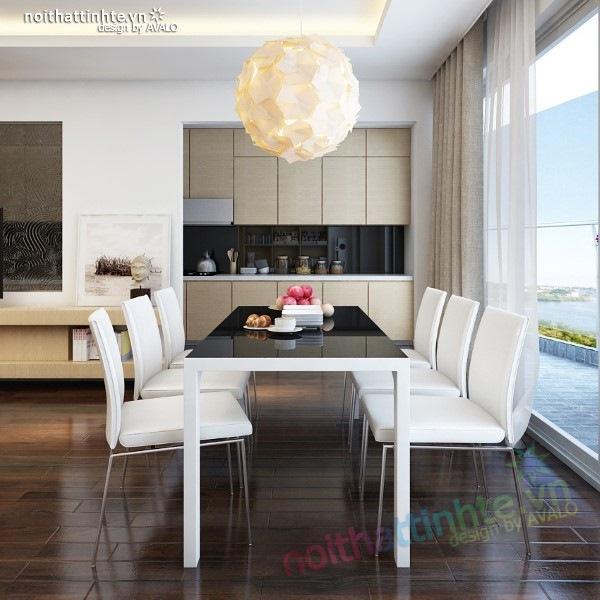 Thiết kế nội thất chung cư  liên thông hiện đại 09