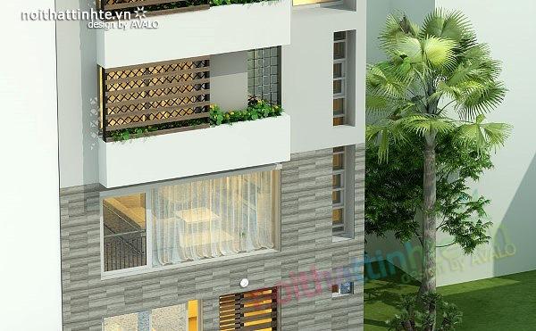 Thiết kế nhà phố đẹp30m2 nhà anh Tuaep 11