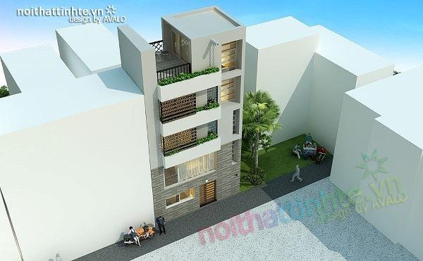 Thiết kế nhà phố đẹp30m2 nhà anh Tuaep 12