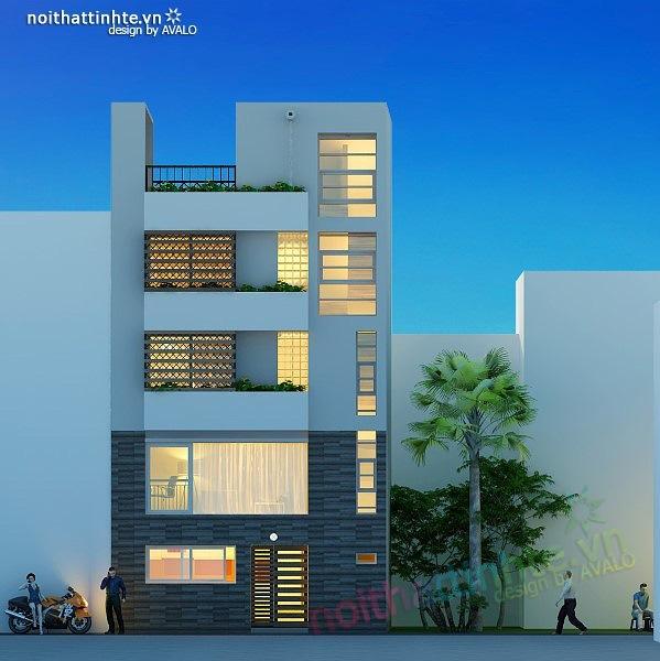 Thiết kế nhà phố đẹp30m2 nhà anh Tuaep 02