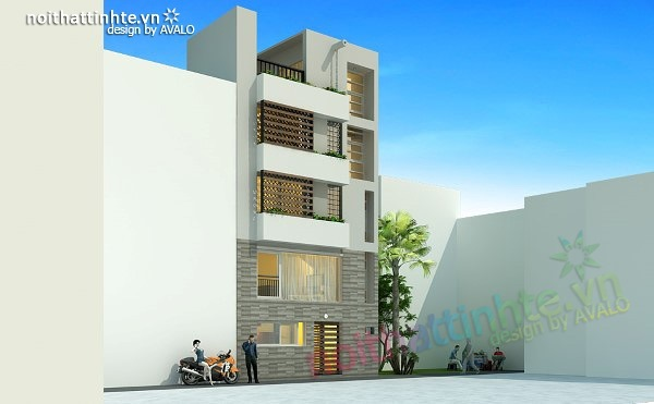 Thiết kế nhà phố đẹp30m2 nhà anh Tuaep 03