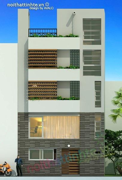 Thiết kế nhà phố đẹp30m2 nhà anh Tuaep 05