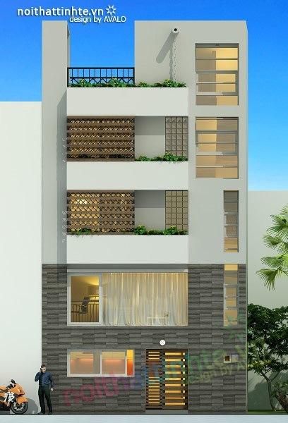 Thiết kế nhà phố đẹp30m2 nhà anh Tuaep 06