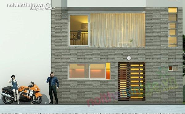 Thiết kế nhà phố đẹp30m2 nhà anh Tuaep 07