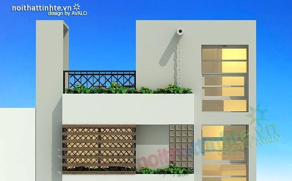 Thiết kế nhà phố đẹp30m2 nhà anh Tuaep 09