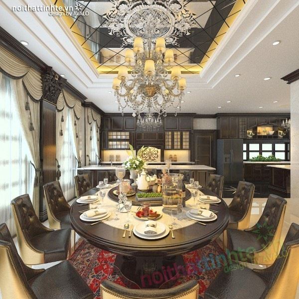 Thiết kế nội thất biệt thự cao cấp H&P anh Phương