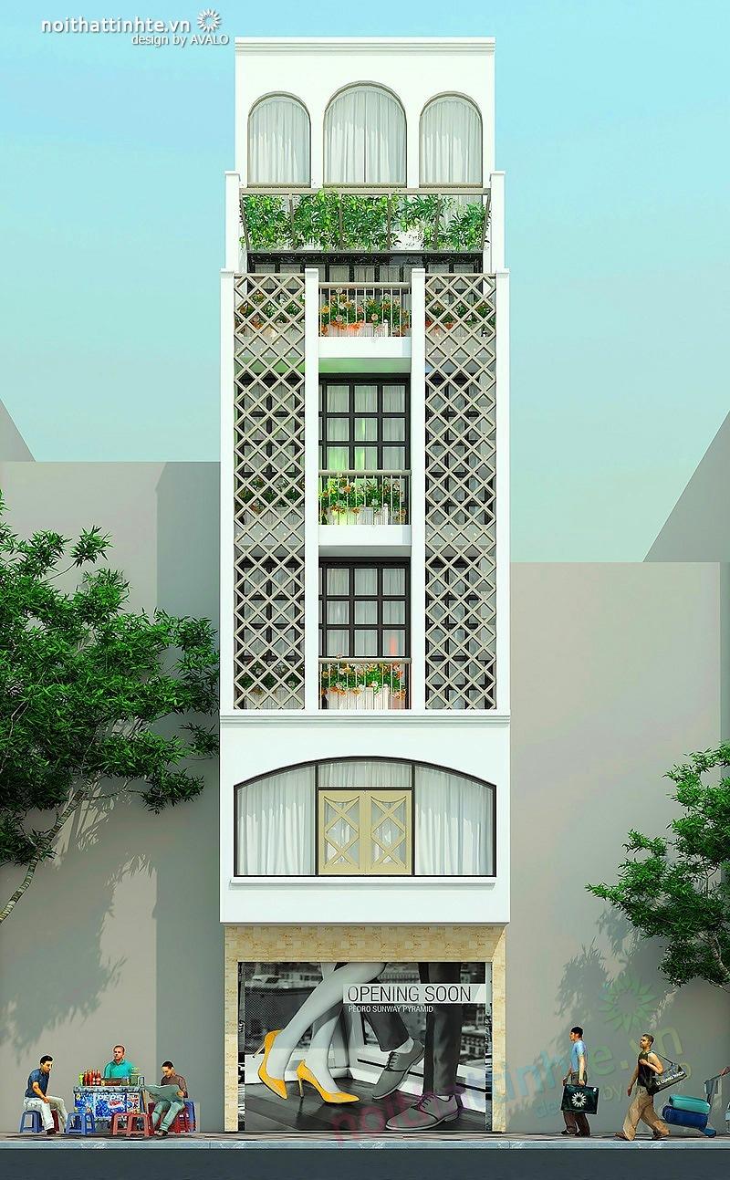 Thiết kế mặt tiền nhà phố đẹp 03